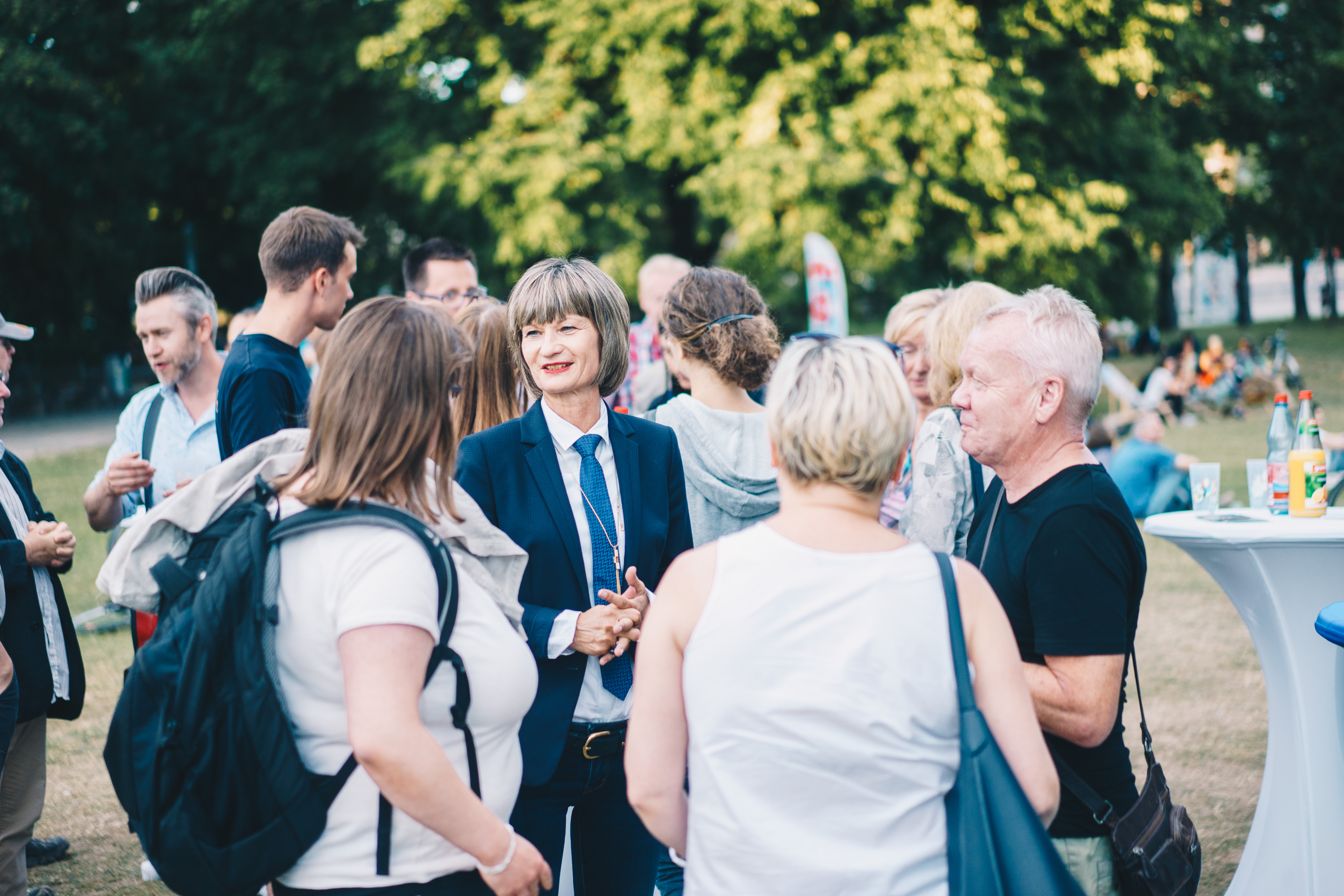 An opportunity to discuss the motto for the Chemnitz application at the Stadthallenpark. Photo: Ernesto Uhlmann
